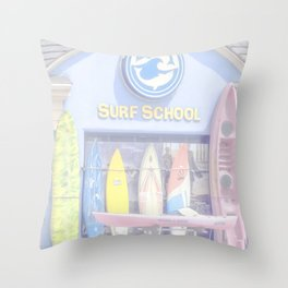 """""""Surf Shop"""" by Murray Bolesta Throw Pillow"""