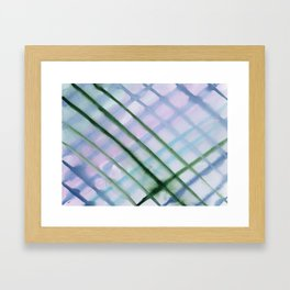 Intersection of greens    watercolor Framed Art Print