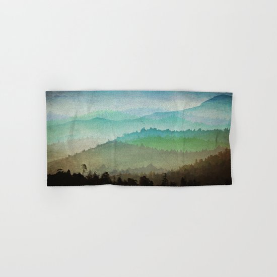 Watercolor Hills Hand & Bath Towel