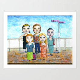 Get on Board by Kylie Fowler Art Print