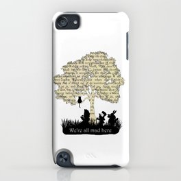 We're All Mad Here II - Alice In Wonderland Silhouette Art iPhone Case