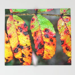 Sumac in Autumn Color Throw Blanket