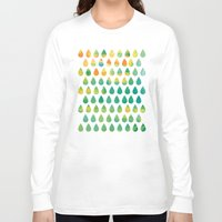 rain Long Sleeve T-shirts featuring Monsoon Rain by Picomodi