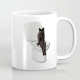 Toilet Cat Coffee Mug