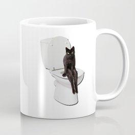 Toilet Cat Coffee Mug