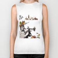 jazz Biker Tanks featuring Jazz  by Design4u Studio