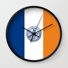 new york city flag united states of america Wall Clock