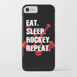 Eat Sleep Hockey Repeat iPhone Case