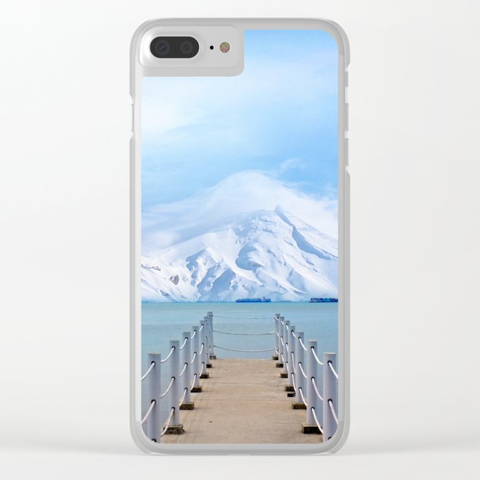 Meet me in the middle Clear iPhone Case