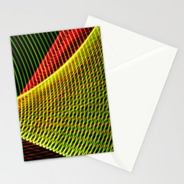 Abstract colorful lines on black background. Stationery Cards