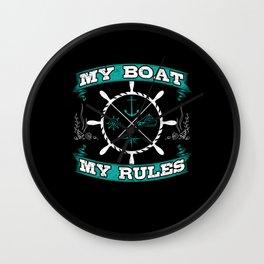 Boat Captain On The Sea Gift Idea Wall Clock