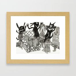 shadow monsters of the mind Framed Art Print