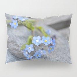 blue flower Fortget Me Not Pillow Sham