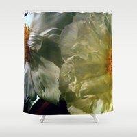 peonies Shower Curtains featuring Peonies by karrenn