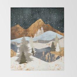 Winter Stars Throw Blanket