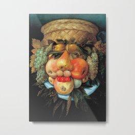Giuseppe Arcimboldo - Fruit Basket Metal Print