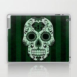 Día de los Muertos in Emerald Green Laptop & iPad Skin