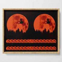 The Moon on Dragon Ball - Black Orange Serving Tray