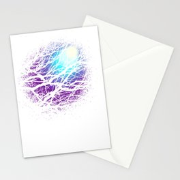 lights in the forest Stationery Cards