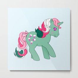 g1 my little pony Fizzy Metal Print