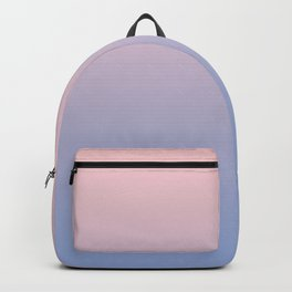 Rose Quartz to Serenity Blue Gradient Backpack