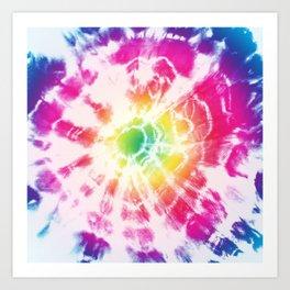 Tie-Dye Sunburst Rainbow Art Print
