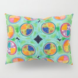 Mixed Colorful Colors in Circles Pillow Sham