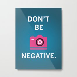 Not Negative - Pink and Blue Metal Print