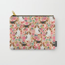Beagle floral dog breed pattern pet gifts for beagle owners must have beagles Carry-All Pouch