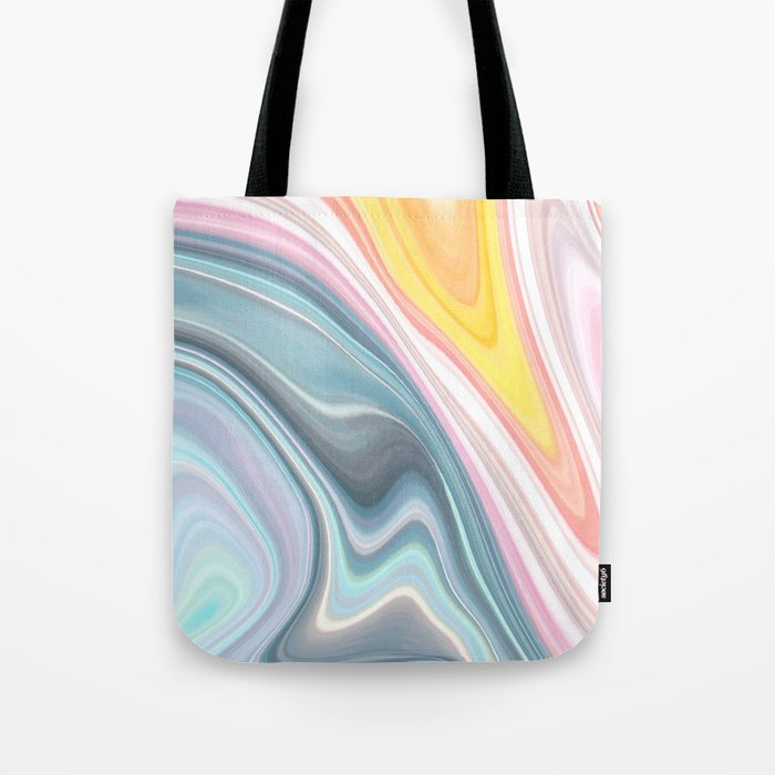 Marble Waves Tote Bag