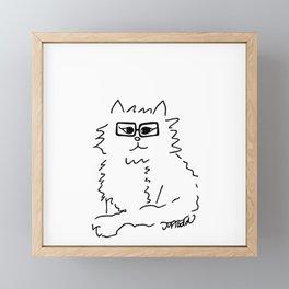 How Do You Like Meow Hipster Kitten Framed Mini Art Print
