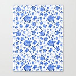 Ocean Life-Blue Palette Canvas Print