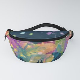 dp059-9 Watercolor flowers Fanny Pack
