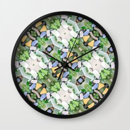 Sea Glass 14 Wall Clock