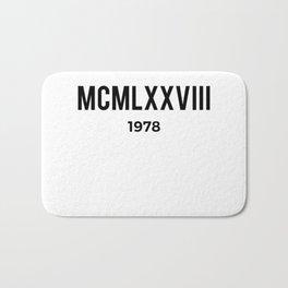 MCMLXXVIII | 1978 Birthday Shirt Bath Mat