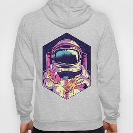 Hungry Astronaut Eating Donuts and Pizza Hoody