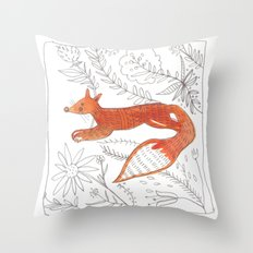 Decorative fox Throw Pillow