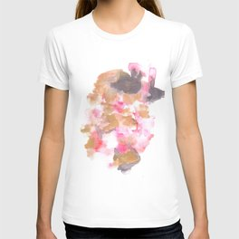 Watercolor Pink Black Flow | [dec-connect] 5. choppy T-shirt