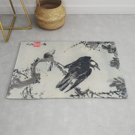 Starlings On A Branch - Digital Remastered Edition Rug