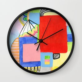Primary Geo Summer Day Wall Clock