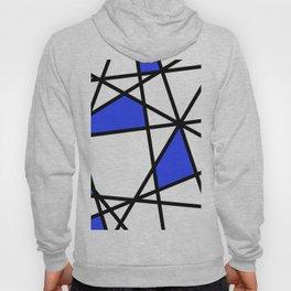 Geometric Modern triangles - white blue Hoody