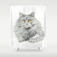 zelda Shower Curtains featuring Zelda by Priscilla Moore