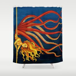 Pole Creatures - Mermaid Shower Curtain