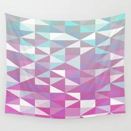 Purple Turquoise Rhombus - Pattern Wall Tapestry