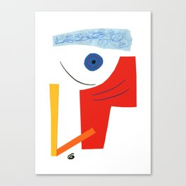 Abstract face. Canvas Print