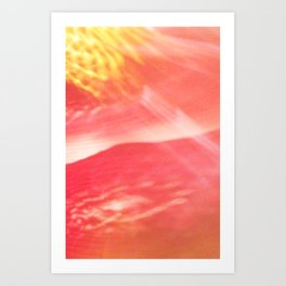 reflection of chihuly ii Art Print
