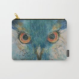 Turquoise Owl Carry-All Pouch