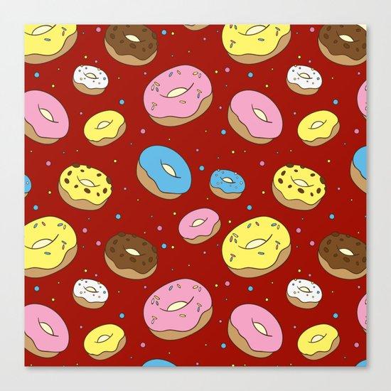 Cute Donuts Canvas Print