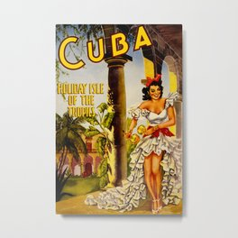Cuba Holiday Isle of the Tropics Metal Print