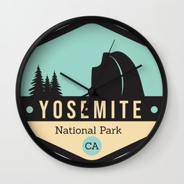 Yosemite National Parks Badge Wall Clock